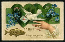 1er AVRIL - Carte Gaufrée De 1904 - April Fool's Day