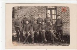Photocarte Allemande- Militaires Soldats Allemand  Pose Photo(guerre 14-18) - Guerre 1914-18