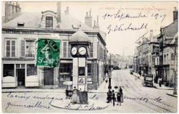 4 Cpa Reims, Les Six-cadrans Et La Rue Gambetta ( Pub Biberons Robert ), Rue Thiers, Fontaine, ... - Reims