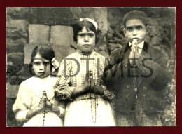 FATIMA - ALJUSTREL - OS PASTORINHOS - FOTO TIRADA APÓS APARIÇOES - 1930 REAL PHOTO PC - Santarem