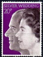 GREAT BRITAIN 1972 Royal Silver Wedding - 20p Queen Elizabeth And Duke Of Edinburgh  MH - Neufs