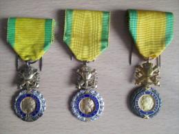Lots De 3 Médailles Militaire - France