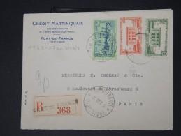 FRANCE- MARTINIQUE- Lot De 3 Enveloppes  Pour La FRANCE  Période 1930/40 A Voir Scans  P4621