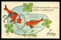 1er AVRIL - Carte Gaufrée - April Fool's Day