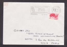 Flamme Dpt 66 : ESTAGEL (SCOTEM N°  7651 émise Le 06/10/1987) Ville Natale De François ARAGO - Festival - Vins Doux - Marcophilie (Lettres)