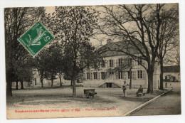 VENDEUVRE SUR BARSE (10) - PLACE DE L'HOTEL DE VILLE - ATTELAGE DE CHIEN - France