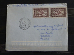 Cambodge - Lettre Envoyée En France En 1954 - Timbrée Recto Et Verso - Cambodja