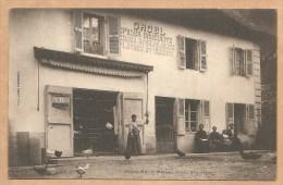 RARE - Groslée. Maison Orcel, Négociant  - ORCEL - EPICIER DROGUISTE,CHAUX,PLATRES Et CIMENTS - Pub Essence BENZO MOTEUR - France