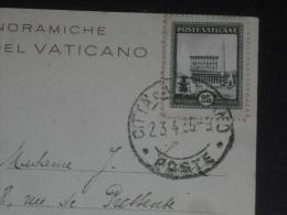 LETTRE VATICAN VATICANO AVEC YT 48 - PLACE SAINT PIERRE - GIARDINI FONTAINE SACRAMENTO - - Lettres & Documents