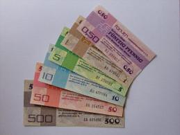 Deutschland, Germany, FORUMSCHECK - SET Der DDR,  0,50 - 500 Mark + 100 Mark ( = 7 Pice )  1979,  UNC ! - [14] Forum-Aussenhandelsgesellschaft MBH