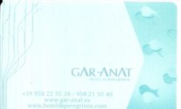 HOTEL GAR ANAT GRANADA Llave Clef Key Keycard Karte - Hotel Labels