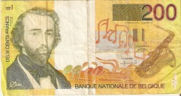 BILLETE DE BELGICA DE 200 FRANCOS DE ADOLPHE SAX  (BANK NOTE) MUSICA-MUSIC - [ 2] 1831-... : Belgian Kingdom