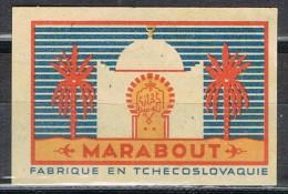 Etiqueta Safety Matches . MARABOUT. Checoslovaquia, Tchecoslovaquie - Tabac (objets Liés)