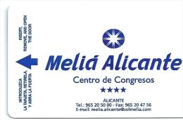 HOTEL MELIA ALICANTE, CORTE INGLES EN REVERSO Llave Clef Key Keycard Karte - Hotel Labels