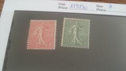 LOT 257639 TIMBRE DE FRANCE NEUF* N�129/130