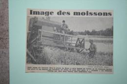 Coupure De Presse 1961 Moissonneuse Batteuse Massey Ferguson RIOM  Puy De Dôme 63 - Historical Documents