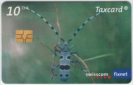 SWITZERLAND A-066 Chip Swisscom - Animal, Insect - used