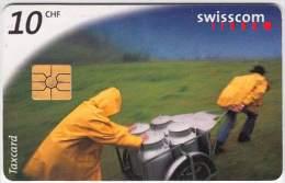SWITZERLAND A-073 Chip Swisscom - Working, Alpin dairyman - used