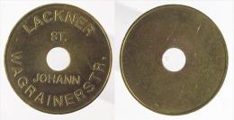 00747 GETTONE JETON TOKEN ADVERTISING MACHINE LACKNER ST. JOHANN WAGRAINERSTR. - Duitsland