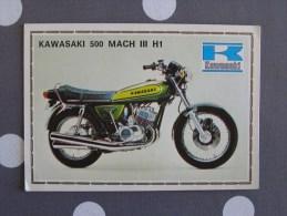 PANINI Super Moto KAWASAKI 500 MACH III H1 Original Sticker N° 90  Vignette Chromo Trading Card Vignette Cards - Panini