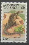 Isole Salomone Solomon Islands 1982 -  Varano Monitor Lizard Rettili Reptiles MNH ** - Isole Salomone (1978-...)