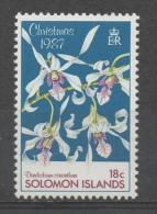 Isole Salomone Solomon Islands 1987 - Natale Christmas Orchidee Orchids Fiori Flowers MNH ** - Isole Salomone (1978-...)