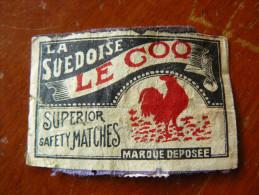 Safety Matches La Suedoise Le Coq - Scatole Di Fiammiferi - Etichette