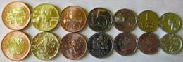 "Czech Republic Set Of 7 Coins 2007-2012 ""0,50+1+2+5+10+20+50 Korun"" UNC - Tchéquie"