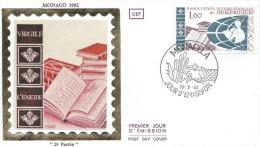 Fdc MONACO 1982 - Assemblée Générale De L'Association Internationale De Bibliophilie  Yvrt N°1358 - FDC