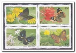 Palau 1990, Postfris MNH, Flowers, Butterflies - Palau
