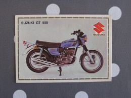 PANINI Super Moto SUZUKI GT 550  Original Sticker N° 168  Vignette Chromo Trading Card Vignette Cards - Panini