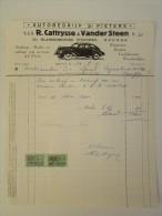 Facture Invoice 1961 Autobedrijf Cattrysse VanderSteen Brugge Automobiles Occasie - Transports