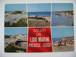 SALUTI  DA LIDO MARINI PRESICCE  LECCE  VIAGGIATA COME DA FOTO - Lecce
