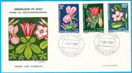 MALI FDC 1963 Tropical Flora  Flore Tropicale Stamp Set - Mali (1959-...)