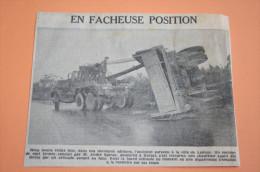 Coupure Presse Puy De Dôme 1961 Accident Camion Ladoux CLERMONT FERRAND RIOM MENETROL - Historical Documents