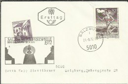 AUSTRIA SALZBURG FESTPIELE 1972  ANTORCHA OLIMPICA JUEGOS DE MUNICH 1972 - Fiestas