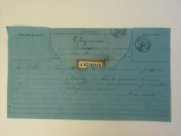 Télégramme  -> Lille Moulinlille 1882 Moulins - Marcophilie (Lettres)
