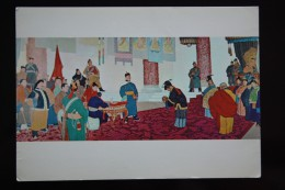 Mongolia. Propaganda. Revolution History   - Old Postcard 1960s - Mongolia