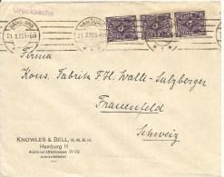 1923 Deutschland, Brief, Drucksache, Hamburg 21.3.23 Nach Schweiz, Mi 230, Siehe Scans! - Germany