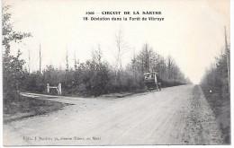 CIRCUIT DE LA SARTHE 1906 - 18 - Déviation Dans La Forêt De VIBRAYE - Voiture - Vibraye