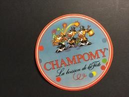 CHAMPOMY - Autocollant Publicitaire - Thème Alimentation Boisson - Autocollants