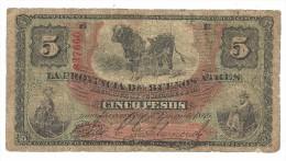 Argentina - Provincia De Buenos Aires 5 Pesos 1869 *V* - Argentina