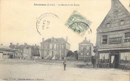 Envermeu (Seine-Inférieure) - La Mairie Et Les Ecoles - Café Du Midi - Collection Haudiquer - Envermeu