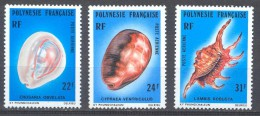 Polynésie Française Poste Aérienne YT N°132/134 Coquillages Neuf/charnière * - Posta Aerea
