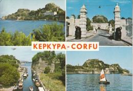 Grèce - Corfu - La Vieille Forteresse - Très Belle Carte Multi-vues - Grèce