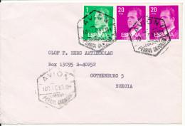 Spain Cover Sent To Sweden Avion 10-12-1983 - 1931-Aujourd'hui: II. République - ....Juan Carlos I