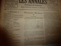 """1904 ANNALES P L  : Roosevelt Et L'arbre Géant """"Grizzly"""" Au Yellowstone Park (USA)  ;La Cigale Et La Fourmi à L'Opéra; - Other"""