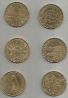 6 Medaille Du Futuroscope  Monnaie De Paris - Monnaie De Paris