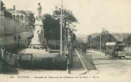 86 - POITIERS - Ensemble Du Monument Des Coloniaux Vers La Gare - Poitiers