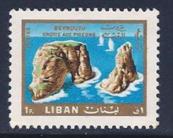 Lebanon, Scott # 444 MNH Pigeon Rocks, 1966 - Liban